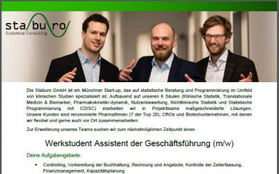 Werkstudent Assistent der Geschäftsführung (m/w)
