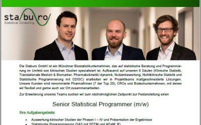 Staburo Senior Statistical Programmer Munich