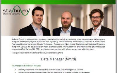 Staburo Data Manager Gdansk