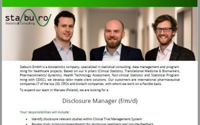 Staburo Disclosure Manager Warsaw