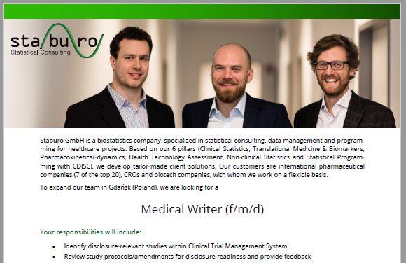 Staburo Medical Writer Gdansk