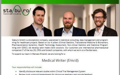 Staburo Medical Writer Warsaw