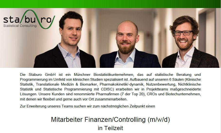 Staburo Mitarbeiter Finanzen/Controlling