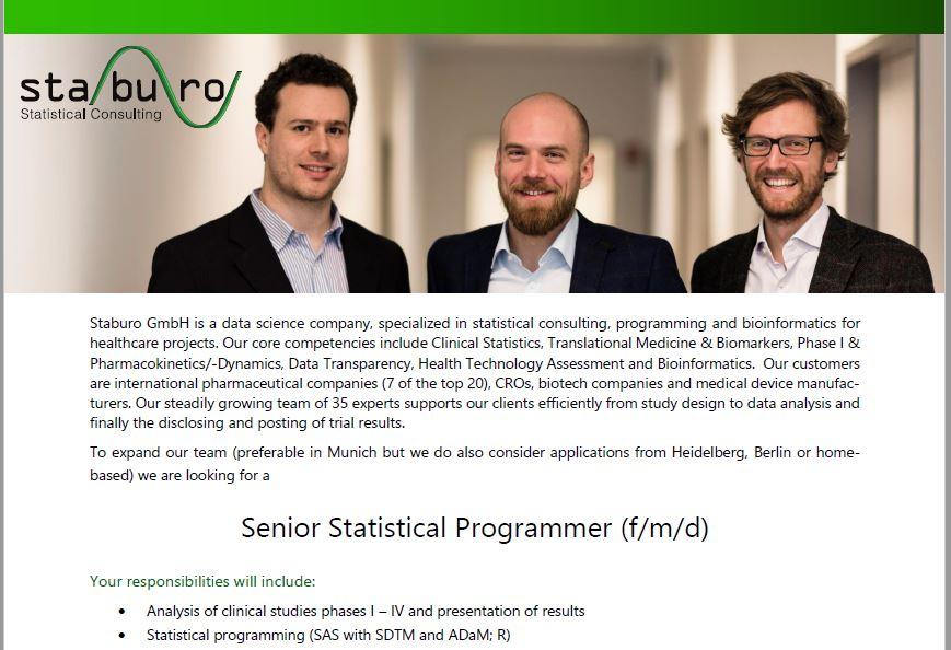 Senior Statistical Programmer