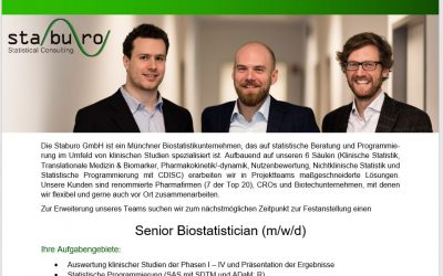 Senior Biostatistician (m/w/d) in Munich