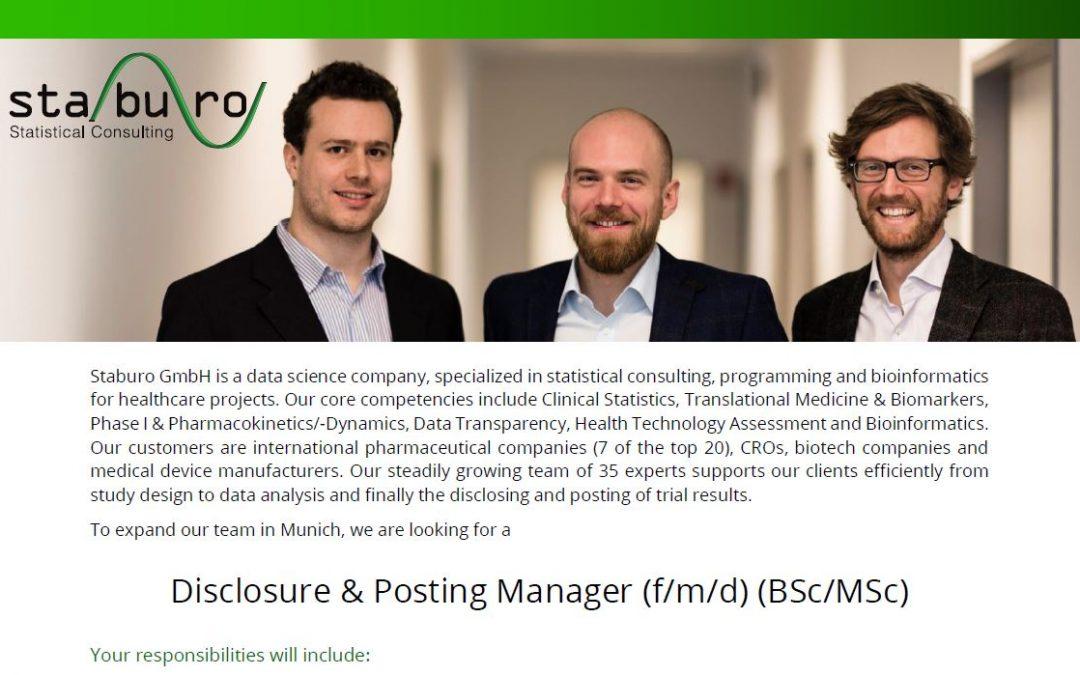 Disclosure & Posting Manager (f/m/d) (BSc/MSc)