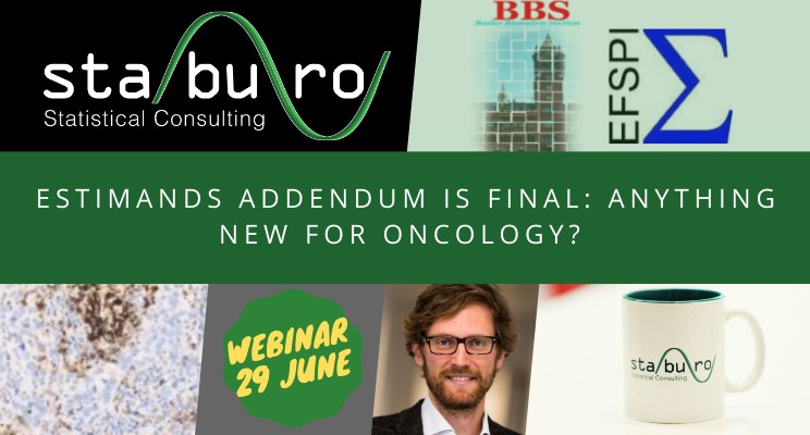 Staburo @ Joint EFSPI / BBS Webinar: Estimands addendum is final: Anything new for oncology?