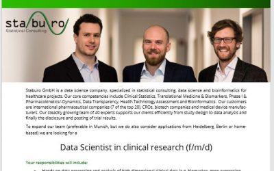 Data Scientist in clinical research (f/m/d)