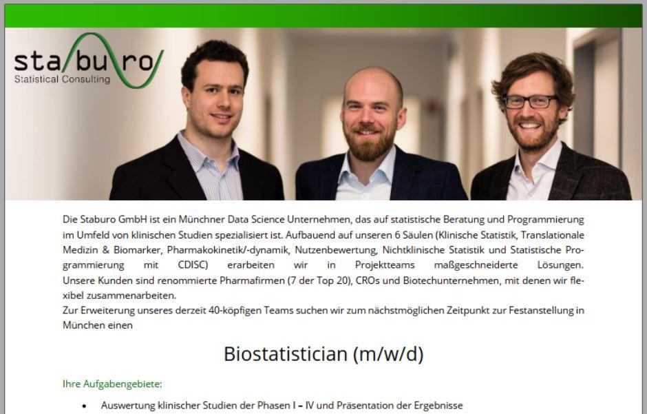 Biostatistician (m/w/d)