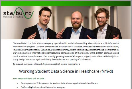 Working Student Data Science in Healthcare (f/m/d)