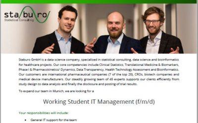 Working Student IT Management (f/m/d)