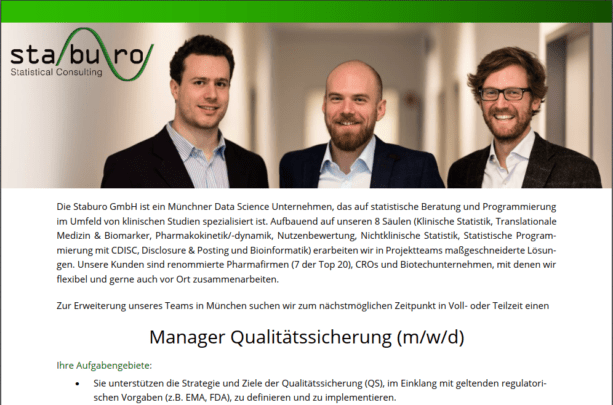 Manager Qualitätssicherung (m/w/d)